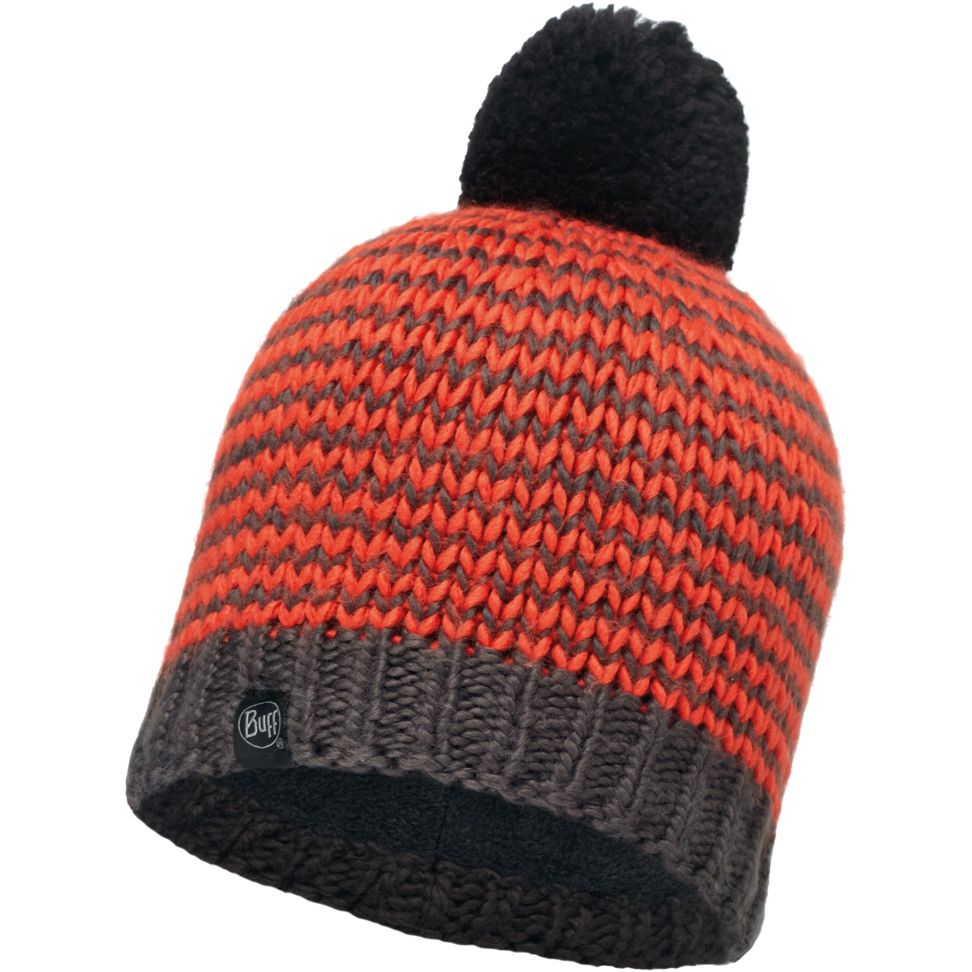 Buff Dorn Knitted Hat - Flame/Grey Vigore