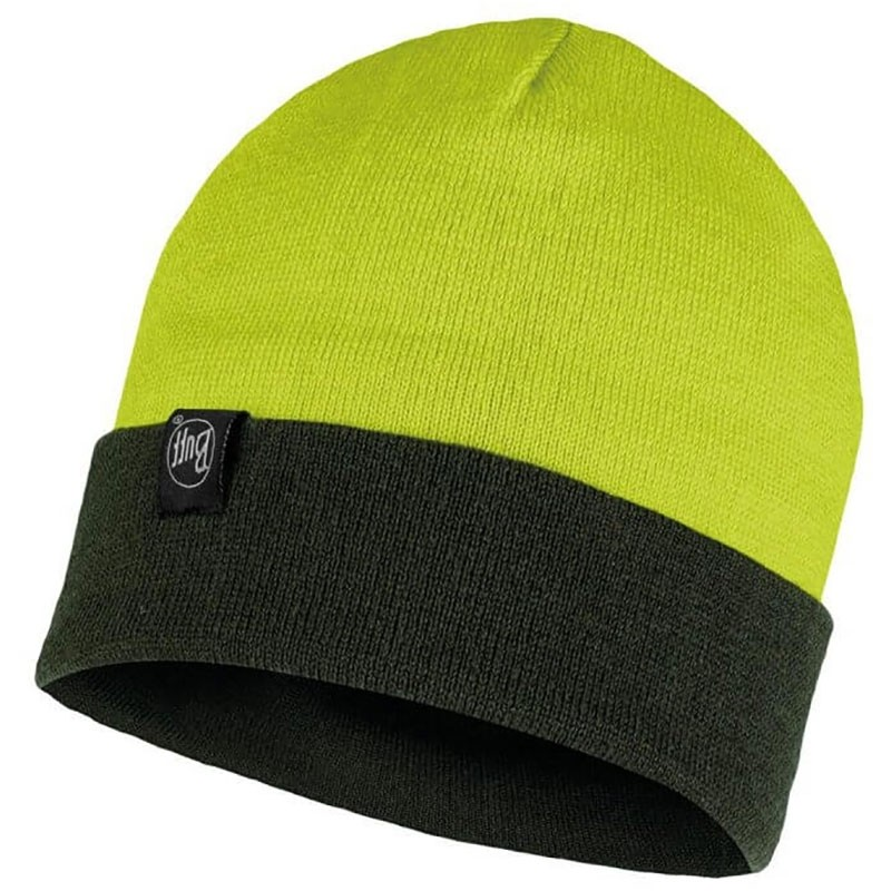 Buff Dub Reversible Beanie - Citric Yellow/Forest Night