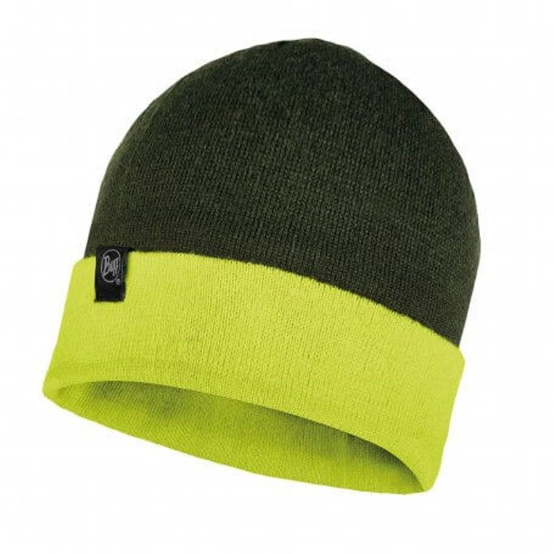 Buff Dub Reversible Beanie - Forest Night/Citric Yellow