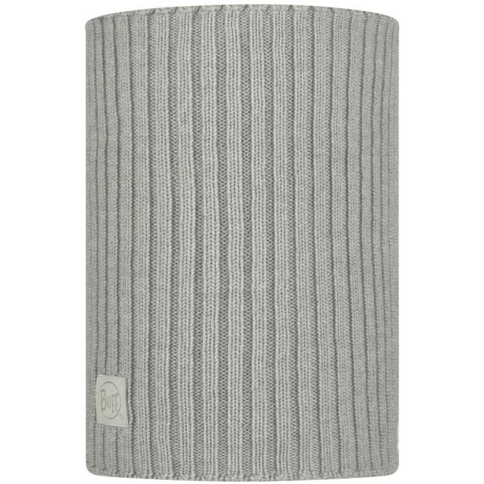 Buff Norval Merino Knitted Neckwarmer - Light Grey
