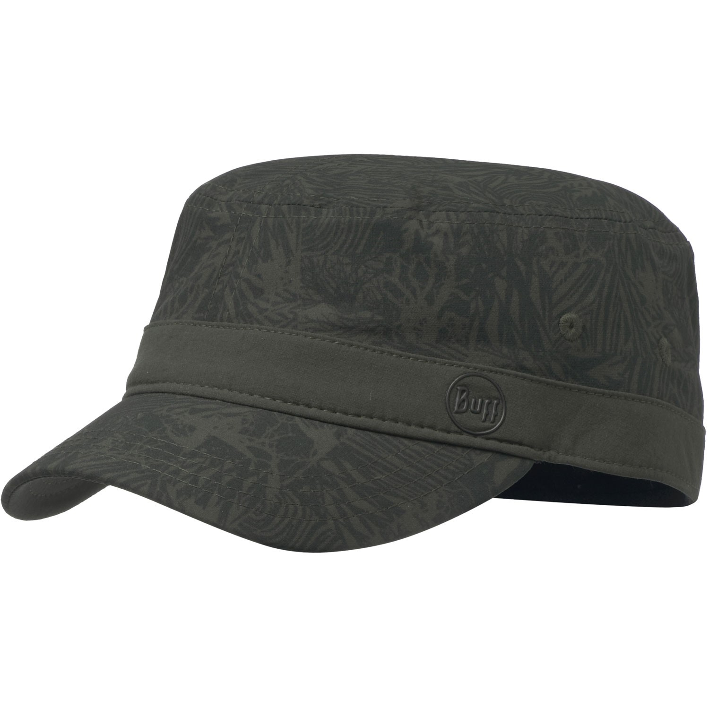 Buff Military Cap - Checkboard Moss Green