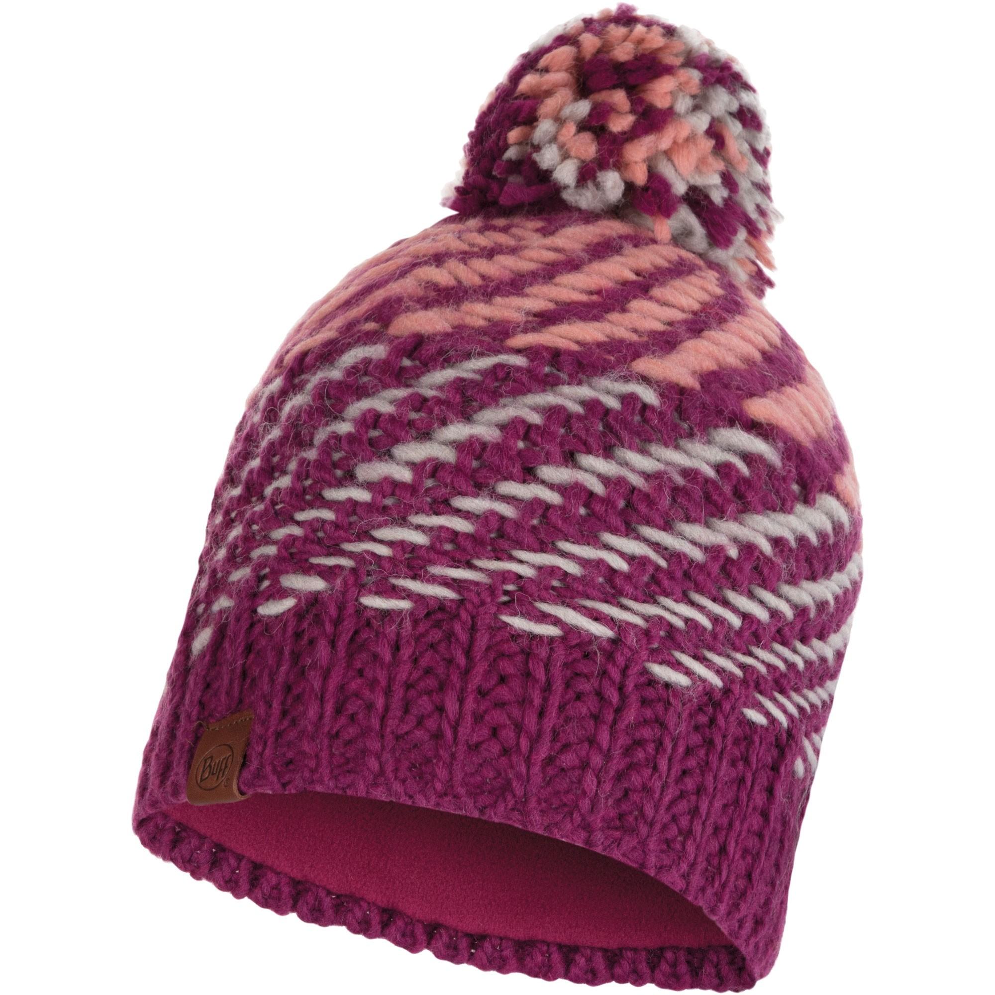 Buff Nella Knitted Hat - Purple/Raspberry
