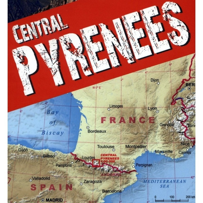 Central Pyrenees Trekking Map by terraQuest