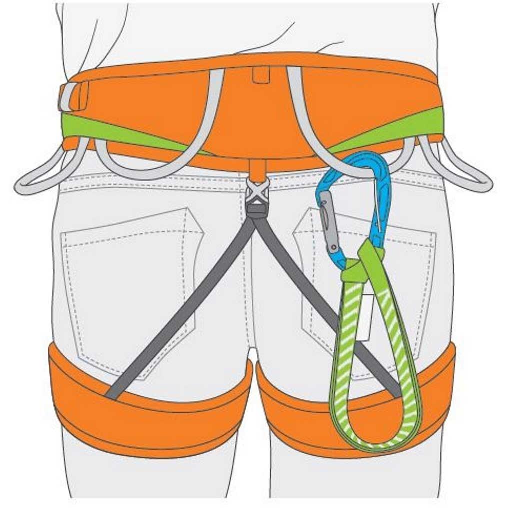 Climbing Technology TRICKY TOOL - Nimble Carabiner + semi-rigid webbing + Fixit
