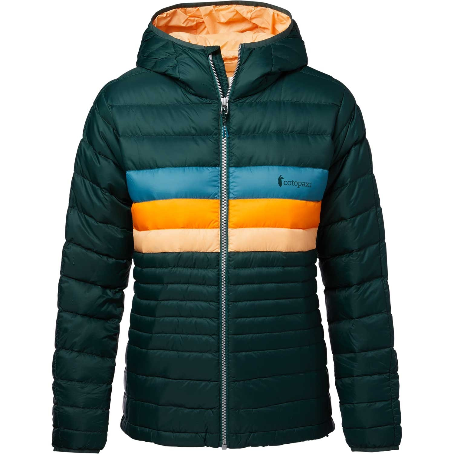 Cotopaxi Fuego Down Hooded Jacket - Women's - Dark Forest Stripes