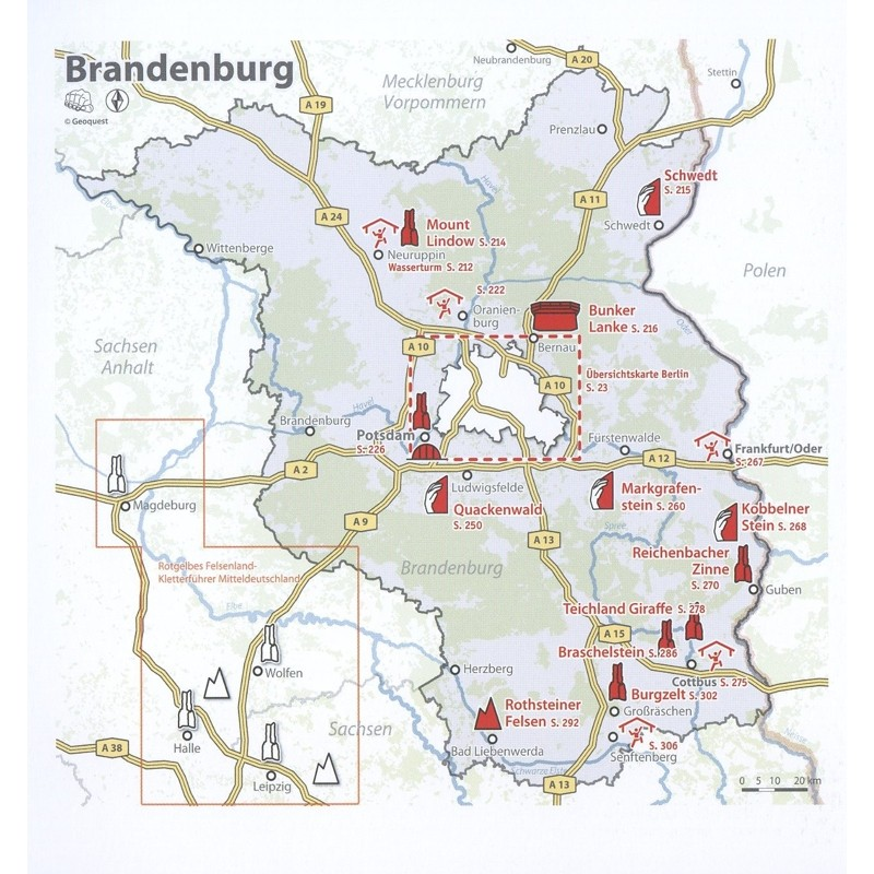 Dickes B: Climbing Guidebook Berlin-Brandenburg by Geoquest