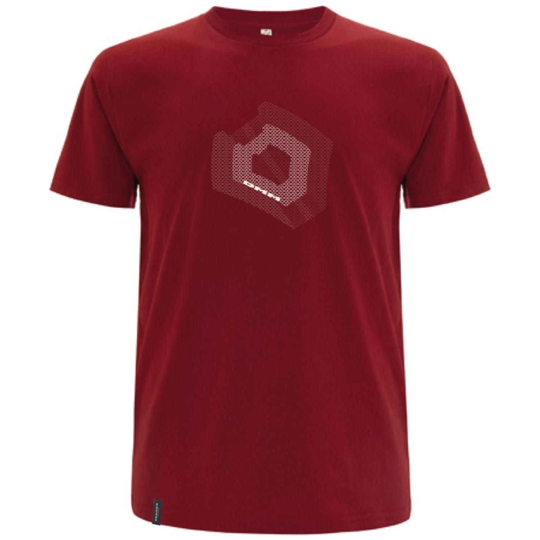 DMM Torque Men's T-Shirt - Dark Red/White