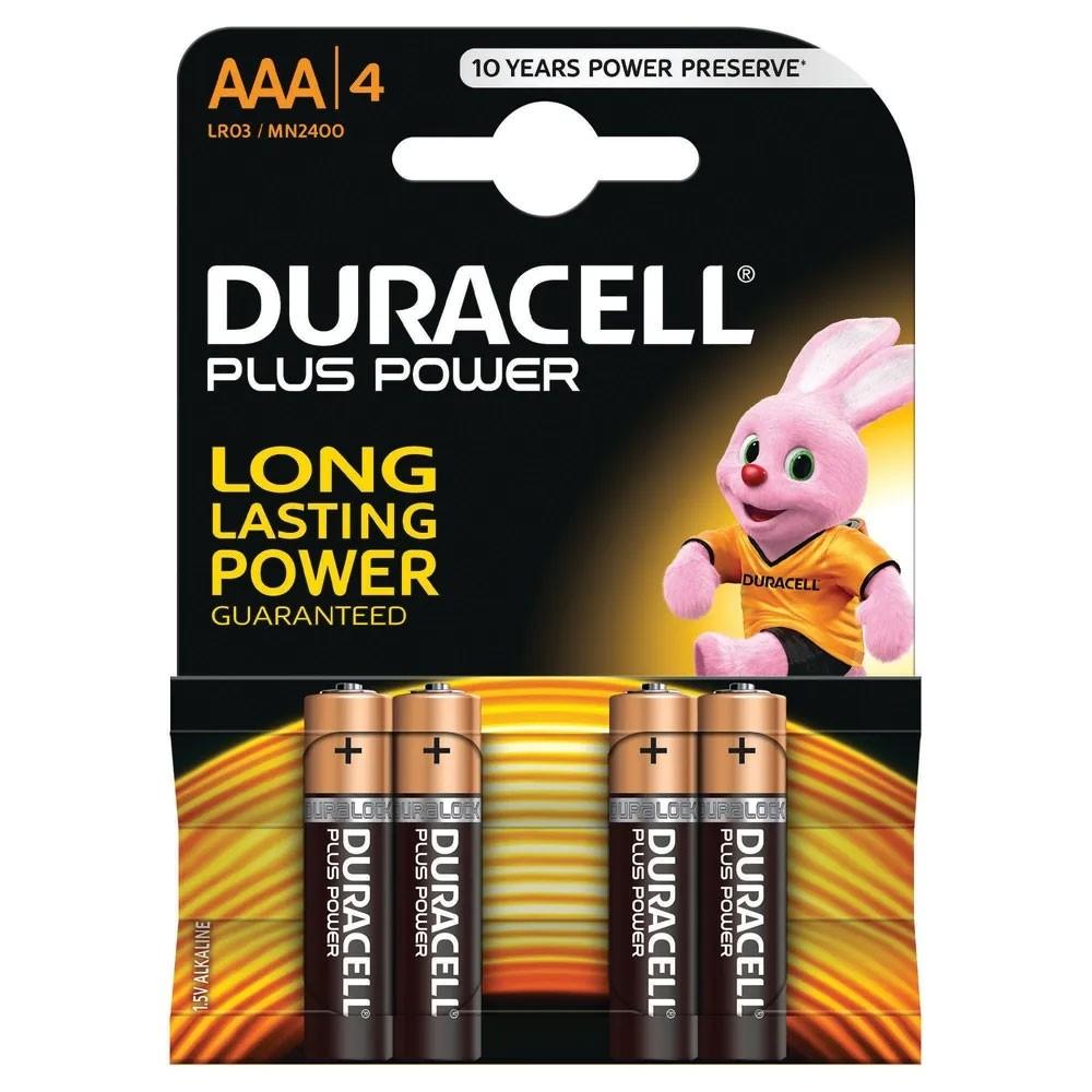 Plus AAA Batteries - 4 Pack