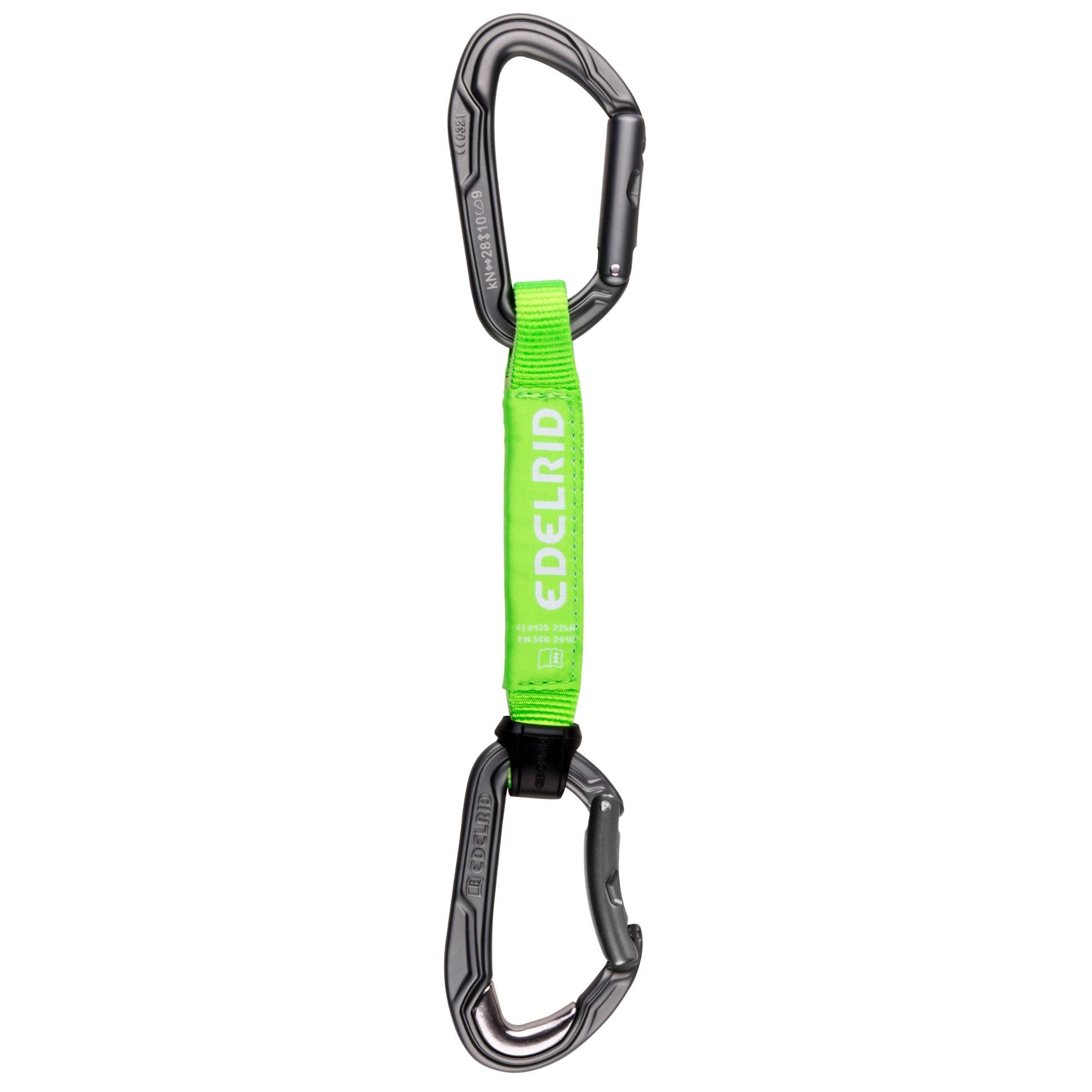 Edelrid Bulletproof Ambassador 16cm Quickdraw - Neon green