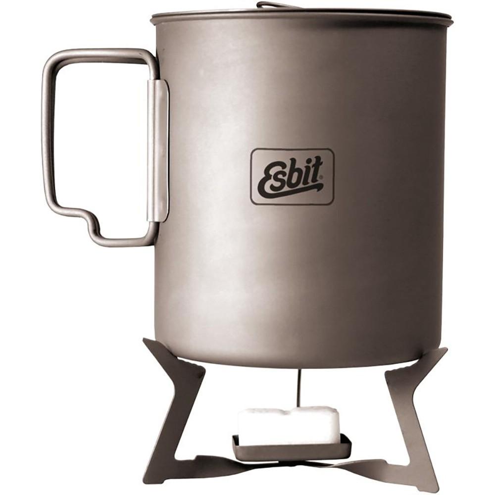 Esbit Titanium Solid Fuel Stove -  with cup