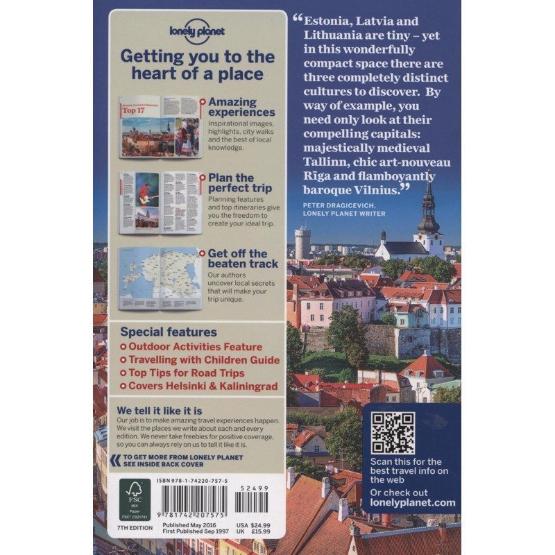 Estonia Latvia & Lithuania: Lonely Planet Travel Guide