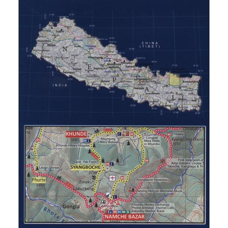 Everest Base Camp & Gokyo Map NE517 by Nepa Maps