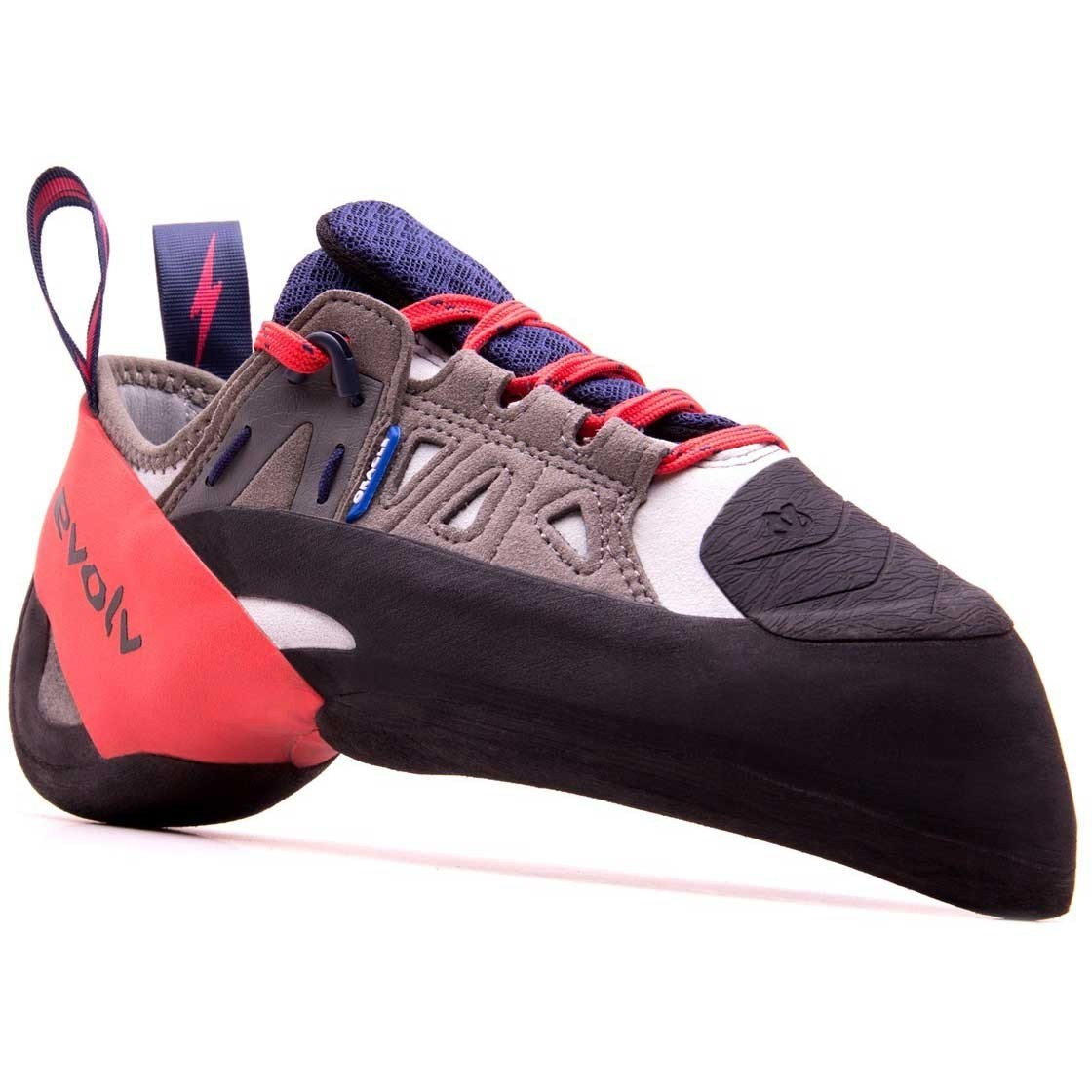 Evolv Oracle Climbing Shoe - Blue/Grey/Red