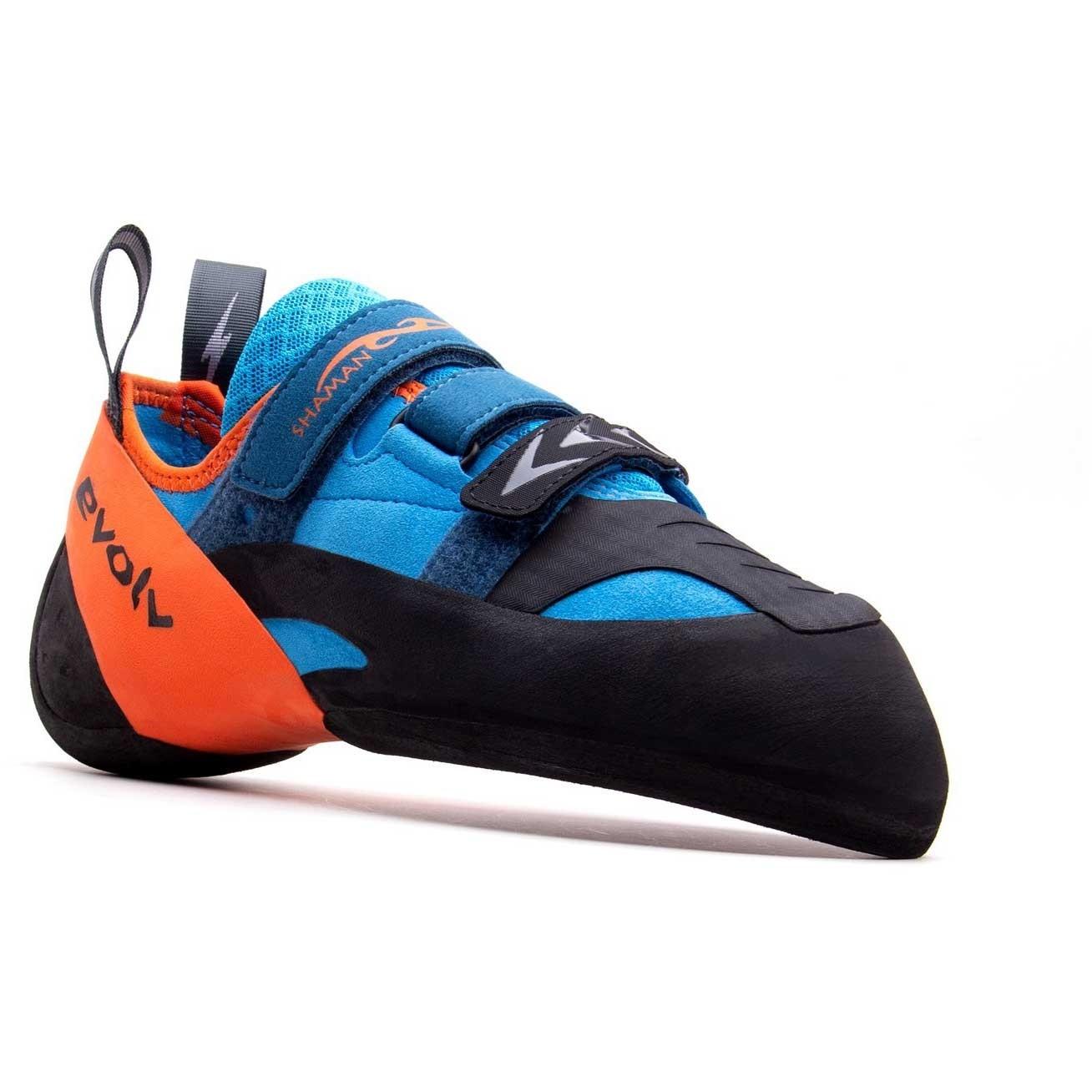Evolv Shaman Climbing Shoe - Blue/Orange