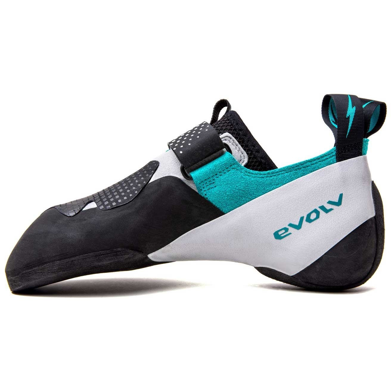 Evolv Zenist Climbing Shoe - Women's - Black/White/Turquoise