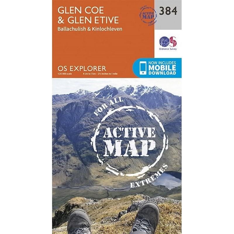 EXP384 Glen Coe & Glen Etive: ACTIVE by Ordnance Survey