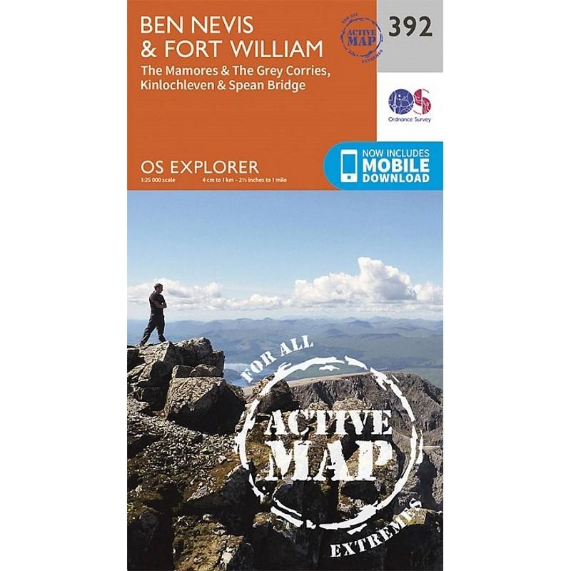 EXP392: Ben Nevis & Fort William ACTIVE by Ordnance Survey