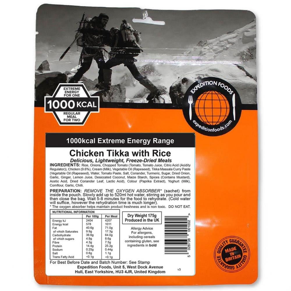 Expedition Foods Extreme Range Chicken Tikka with Rice 1000kcal
