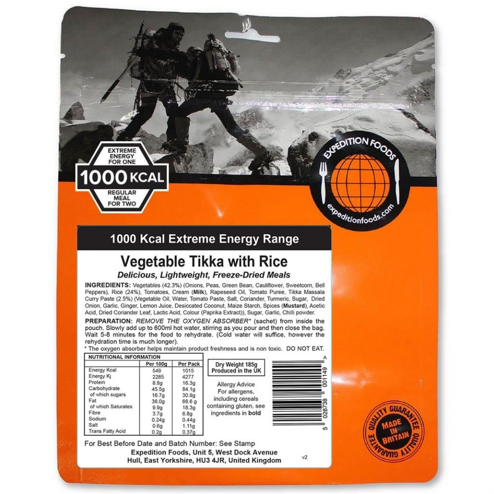Expedition Foods Vegetable Tikka with Rice (1000kcal)