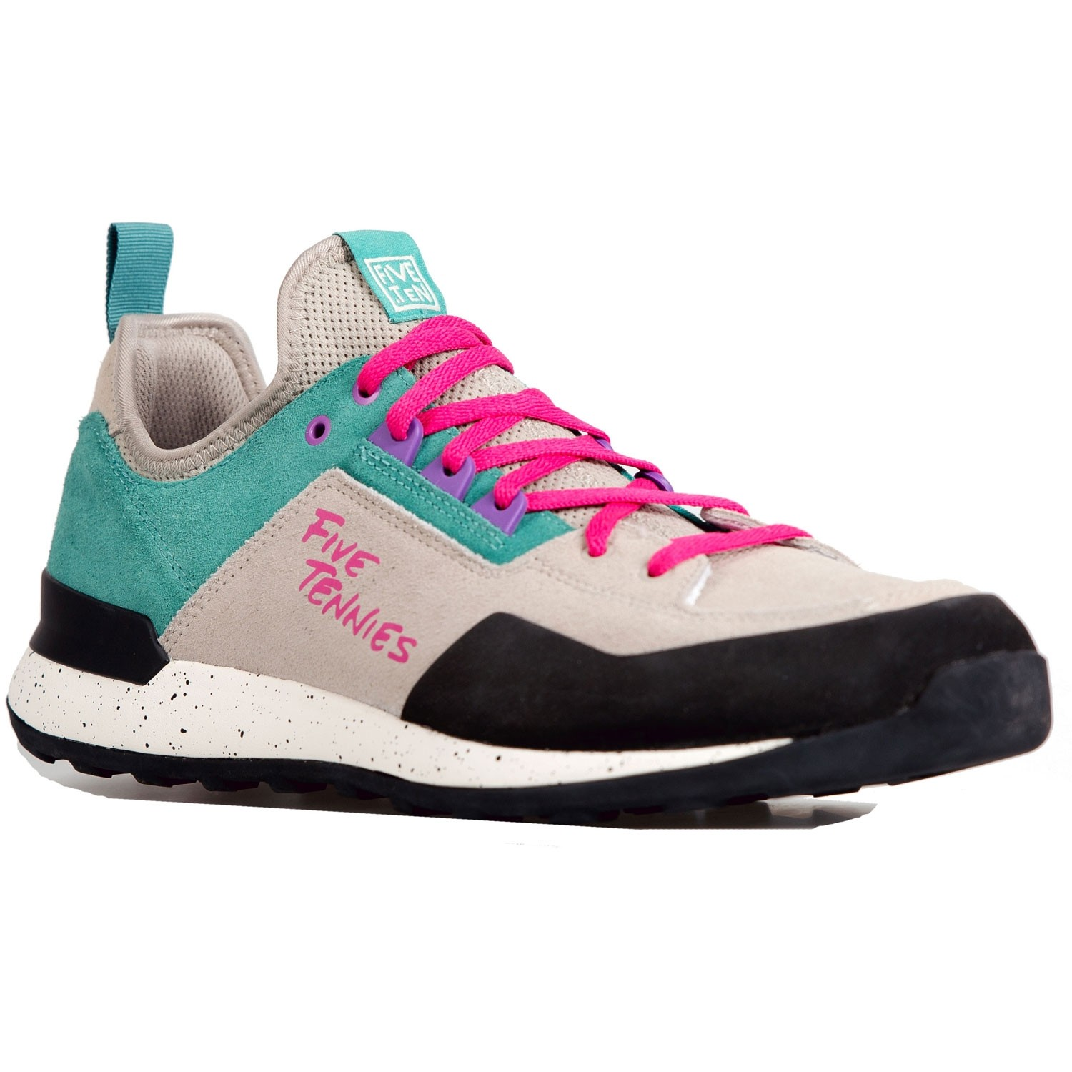 Five.Ten Five Tennie Men's Approach Shoes - Light Brown/True Green/Real Magenta