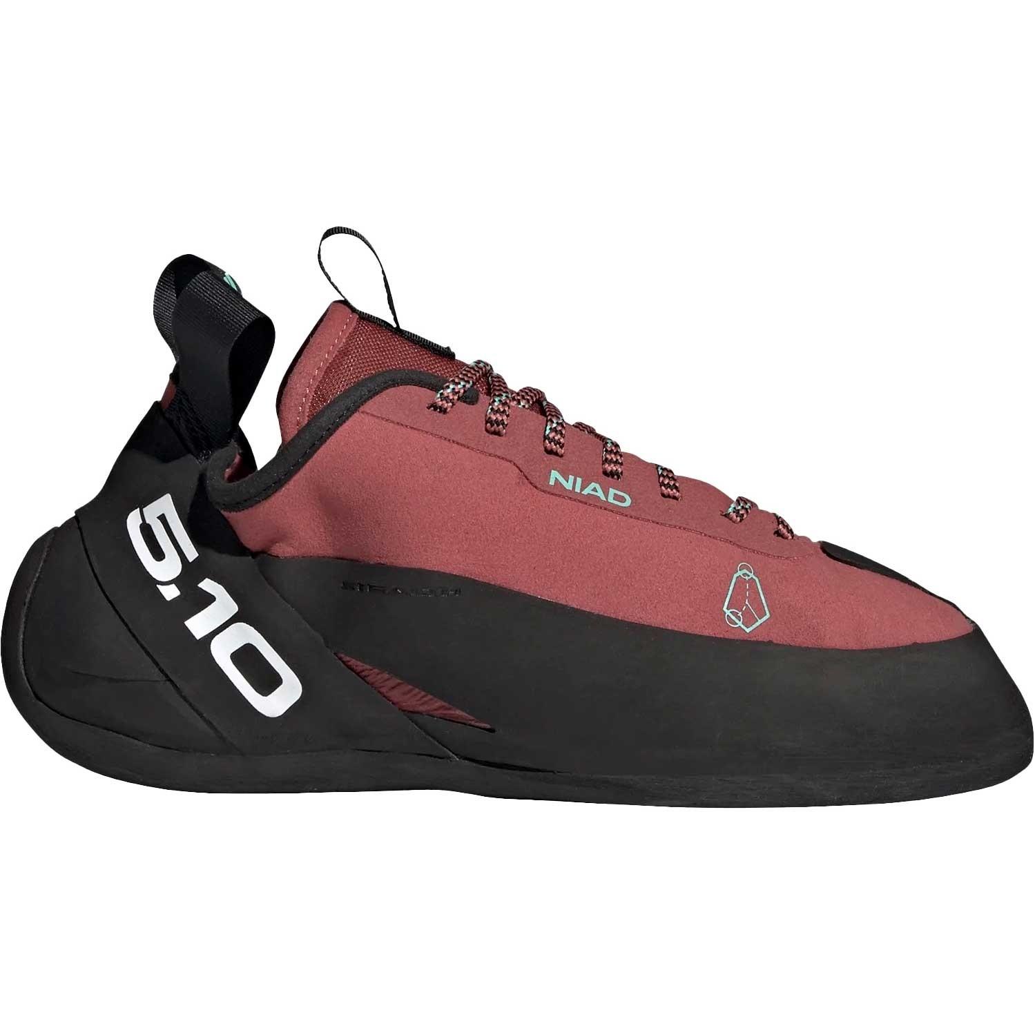 Five.Ten Niad Lace Rock Climbing Shoes - Core Black / Crew Red / Acid Mint