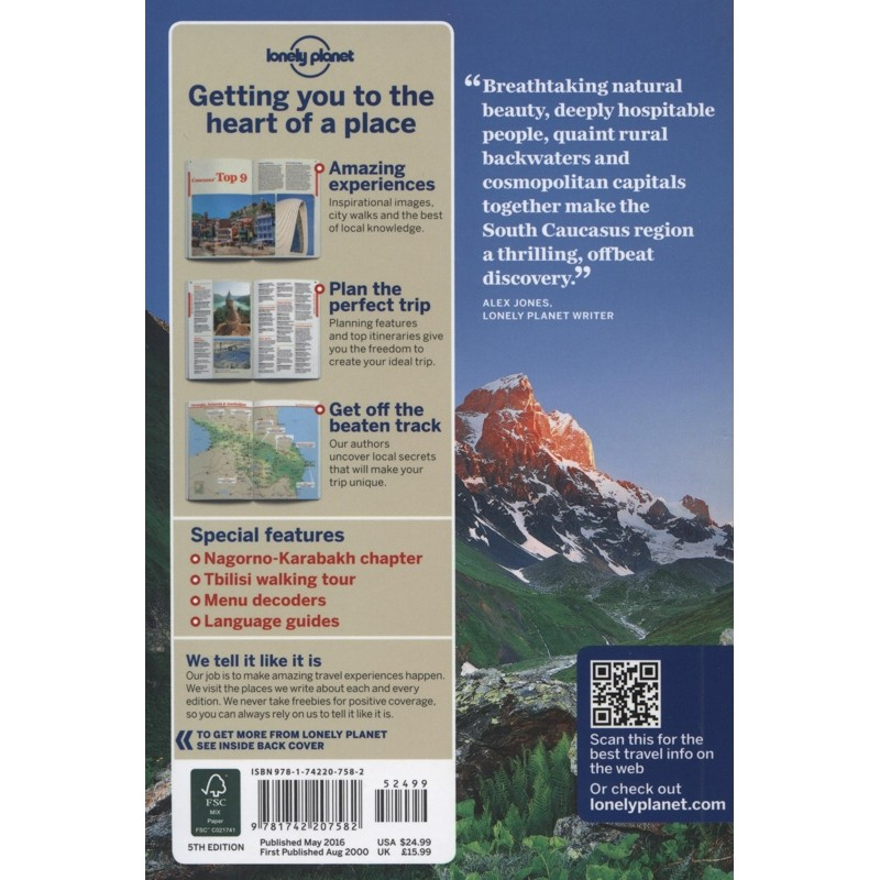 Georgia Armenia & Azerbaijan: Lonely Planet Travel Guide