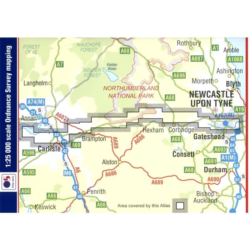 Hadrian's Wall Path A-Z Adventure Atlas