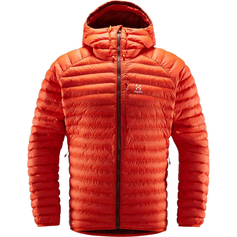 Haglofs Essens Mimic Hood Insulated Jacket - Men's - Habanero/Maroon Red
