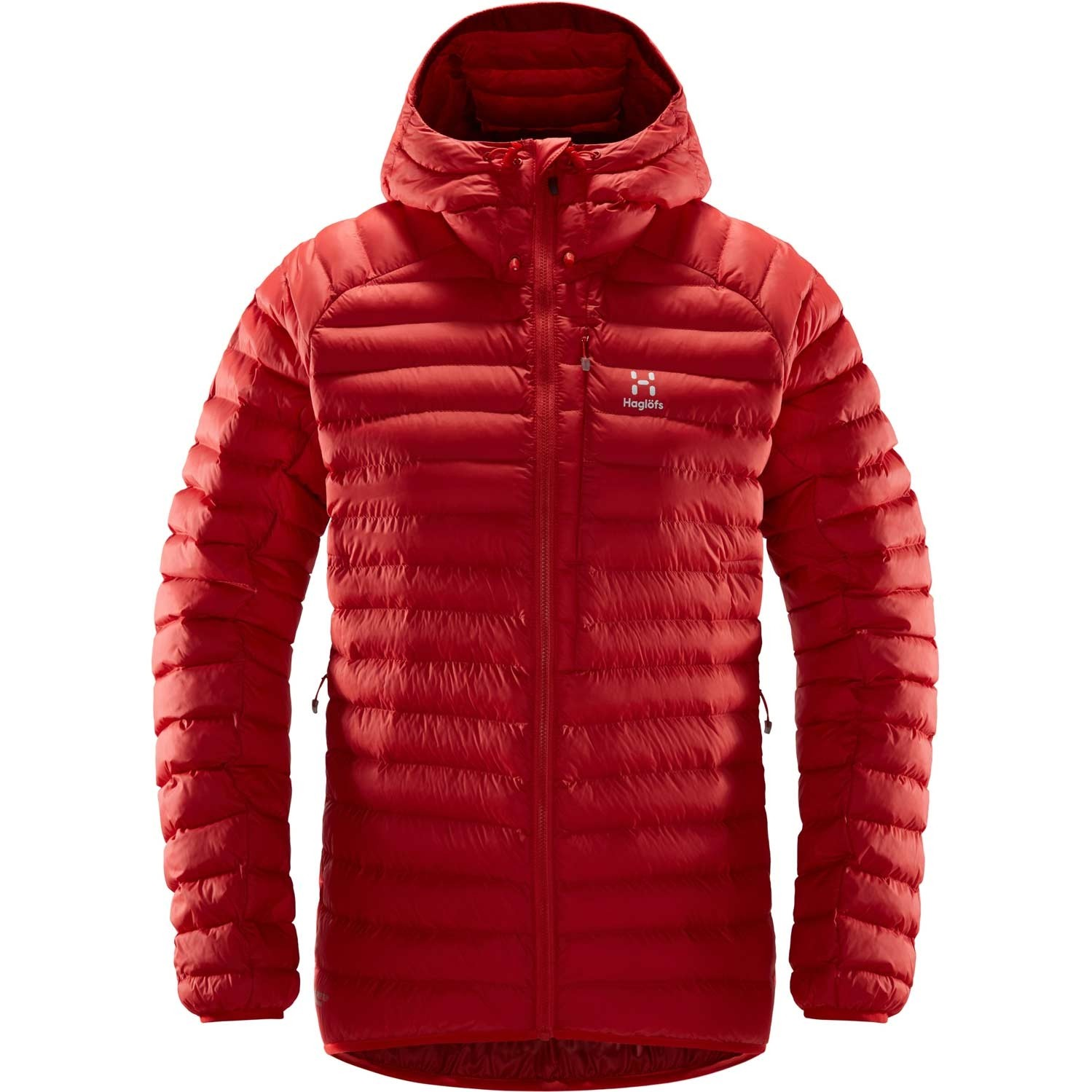Haglofs Essens Mimic Hood Women's Jacket - Hibiscus Red/Brick Red