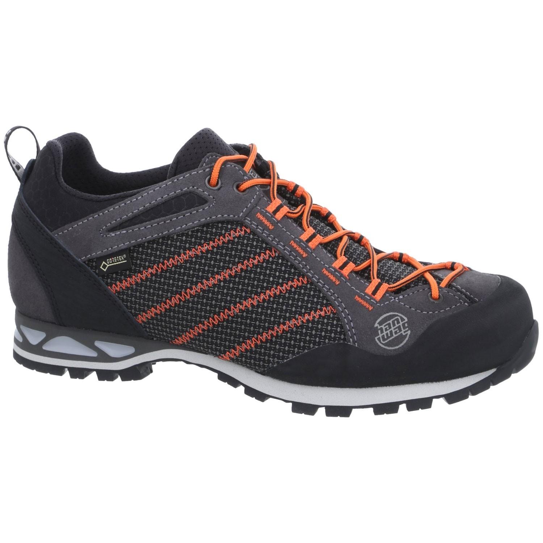 Hanwag Makra Low GTX Approach Shoes - Asphalt/Orange