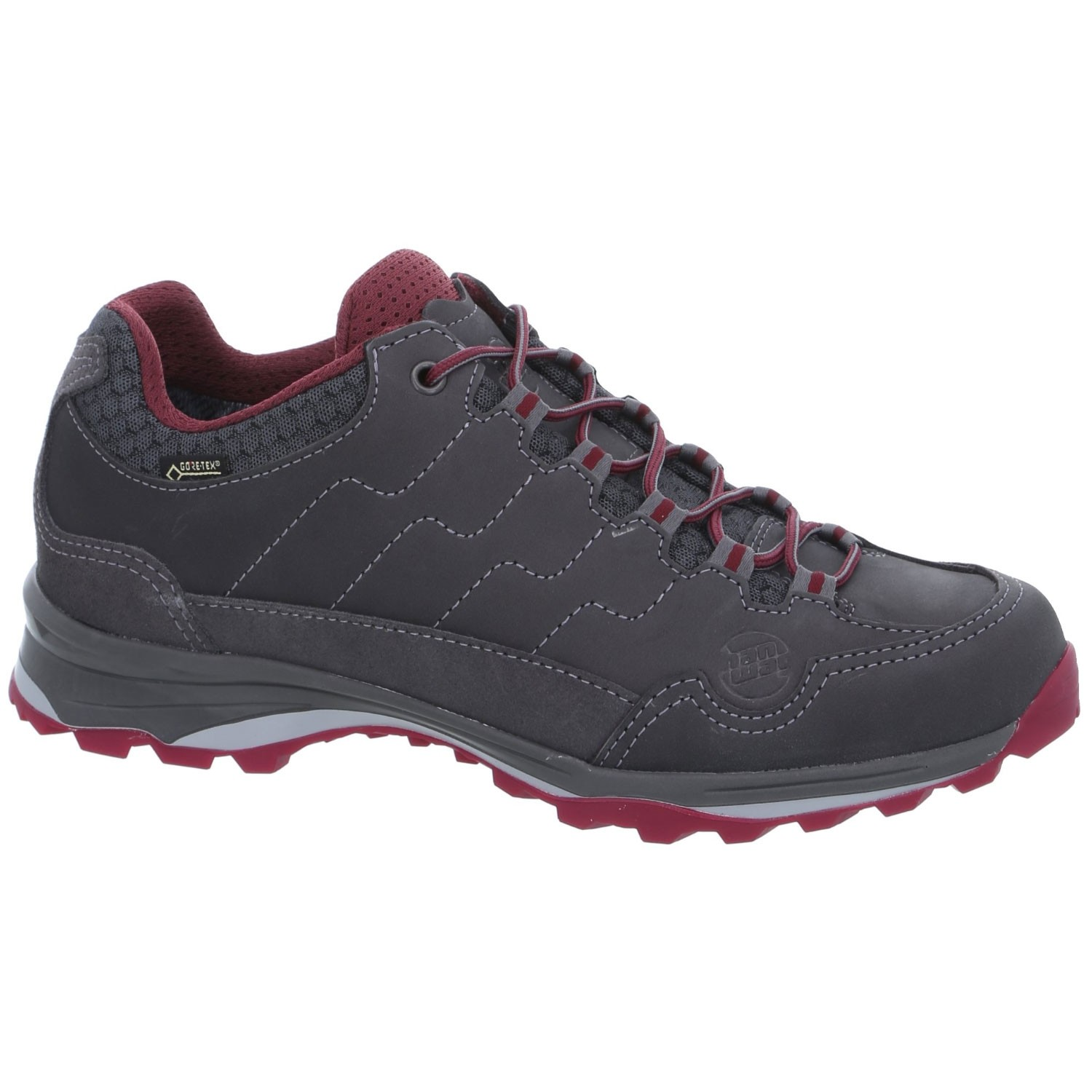 Hanwag Robin Light GTX  Walking Shoe - Asphalt/Dark Garnet