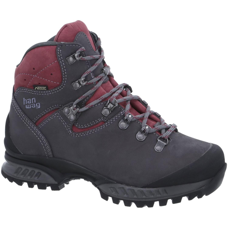 HANWAG - Tatra Wide GTX Women's Walking Boot - Asphalt/Dark Garnet