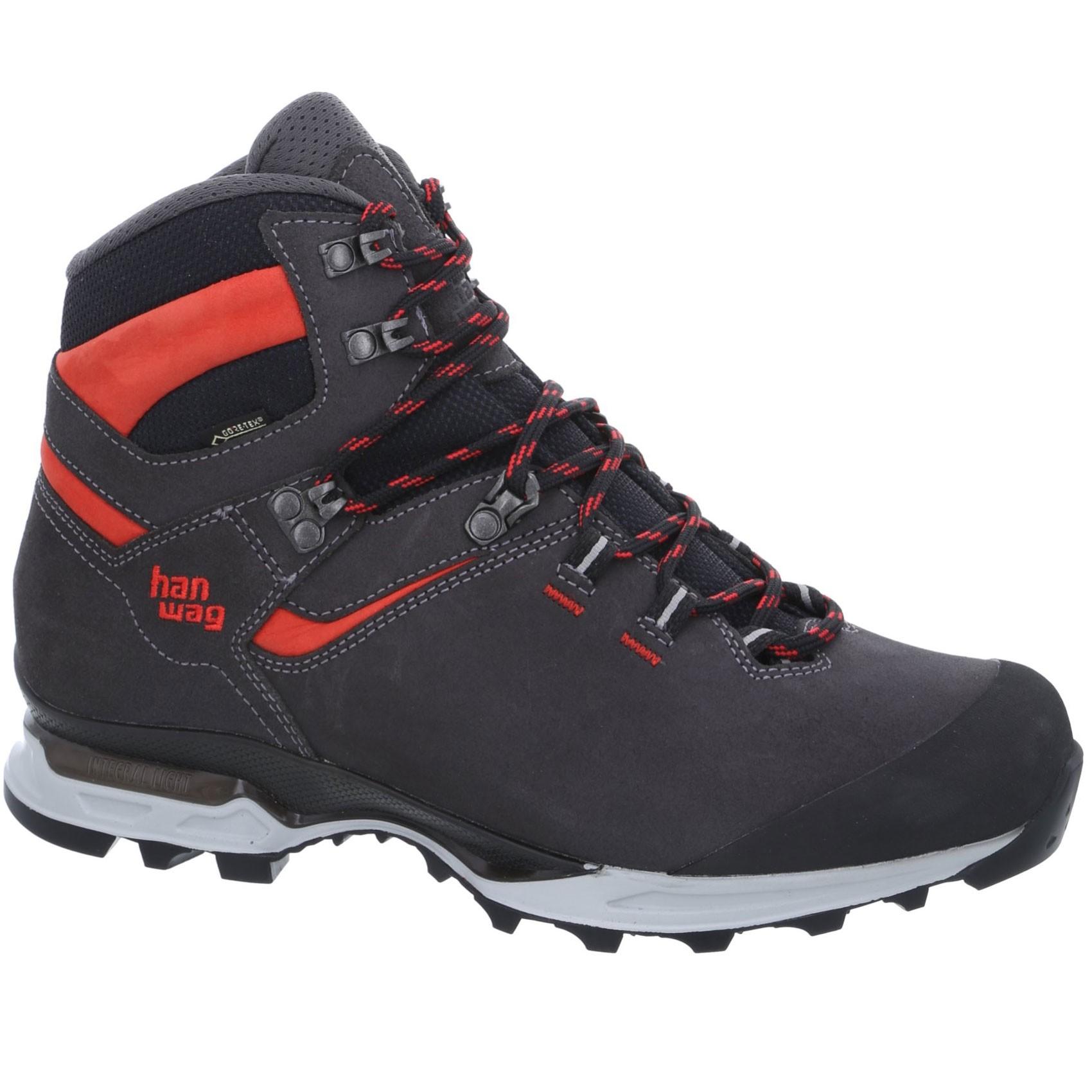 Hanwag Tatra Light GTX Walking Boots - Asphalt/Red