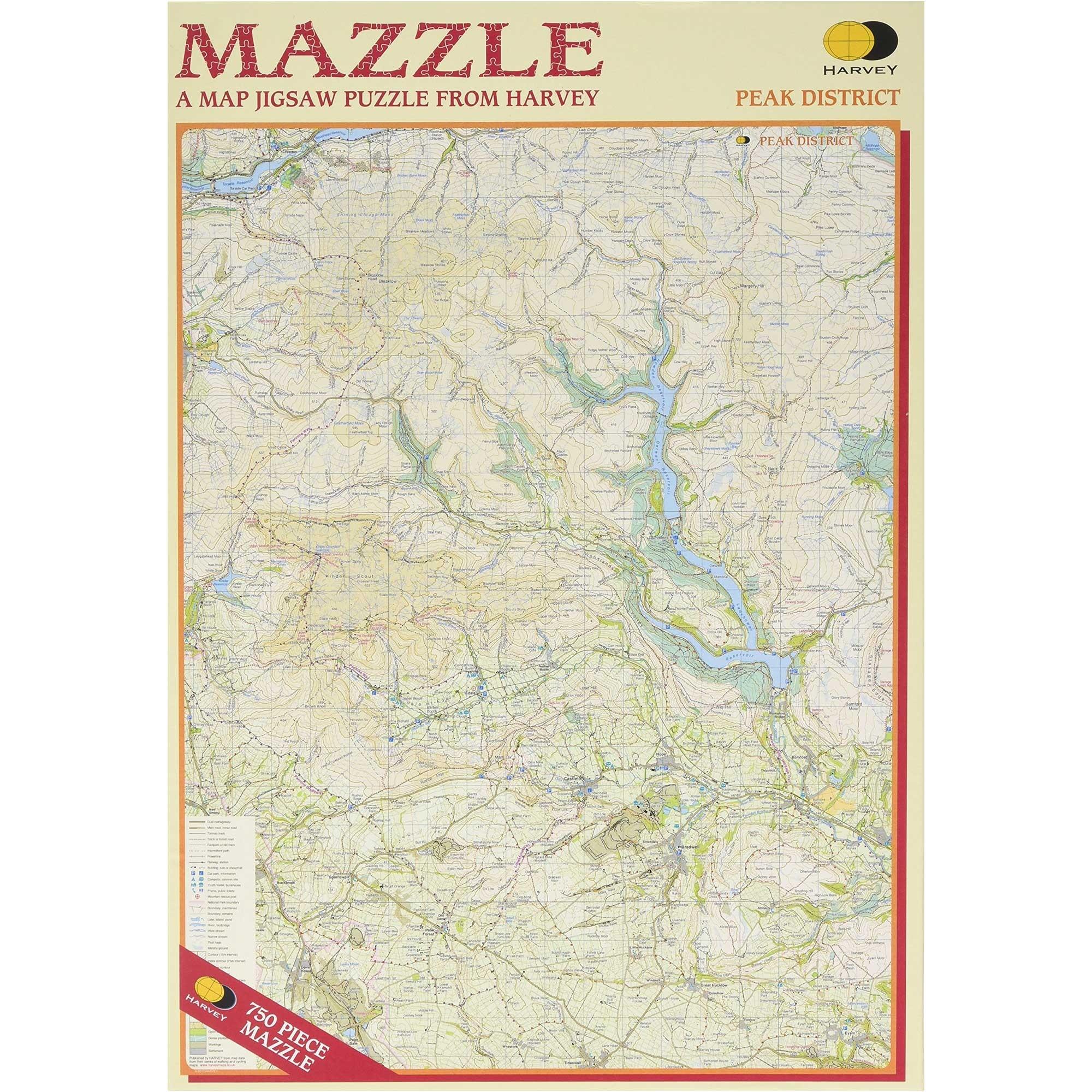 Harvey Mazzle Peak District Map Jigsaw Puzzle