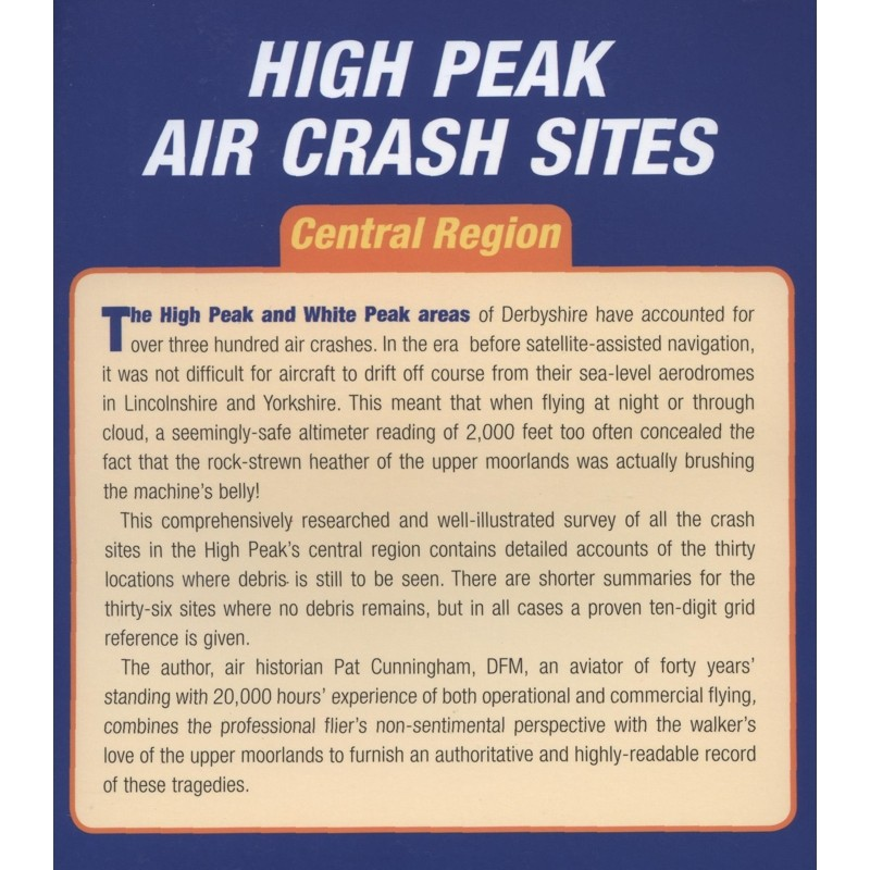 High Peak Air Crash Sites: Central Region by Countryside Books