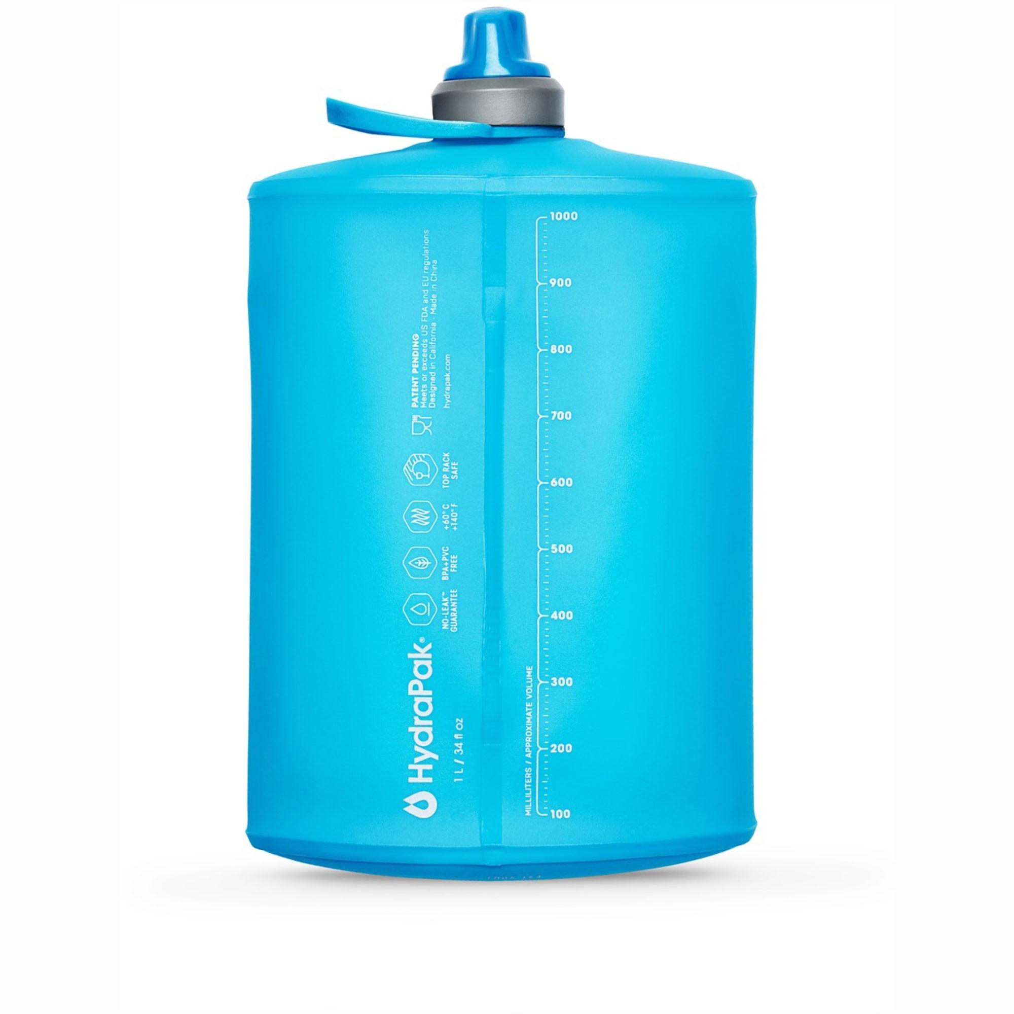 Hydrapak Stow 1L Collapsible Bottle - Malibu Blue
