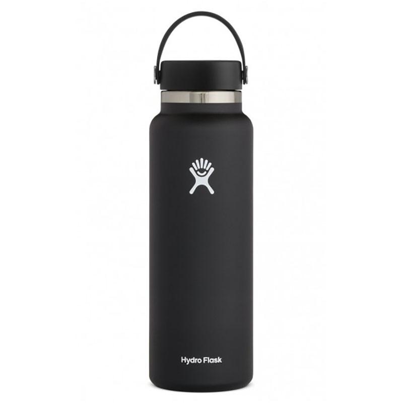Hydro Flask 40 oz Wide Mouth Insulated Bottle w/Flex 2.0 Lid - Black
