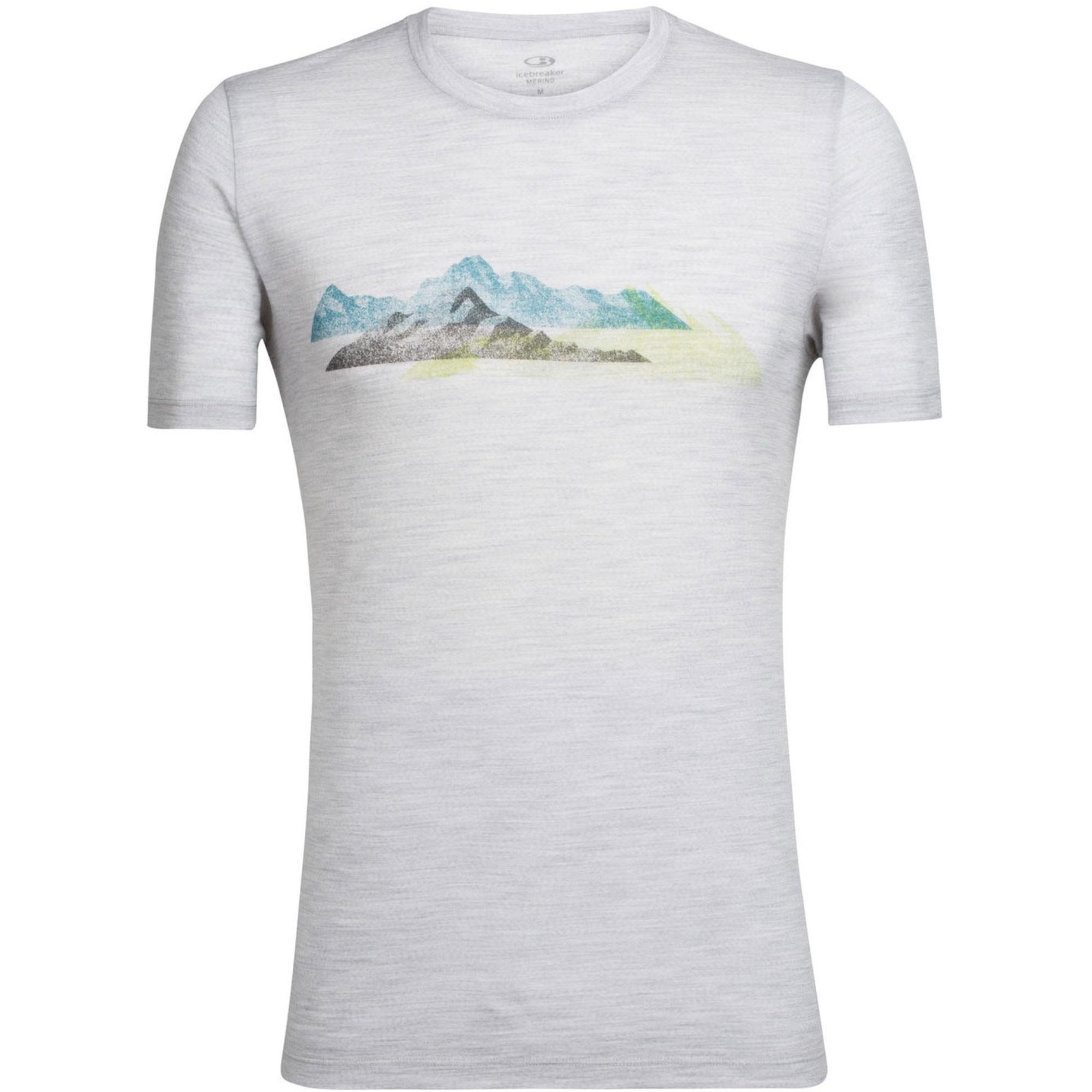 Icebreaker Tech Lite SS Crewe T-Shirt - Misty Peak - Blizzard Heather
