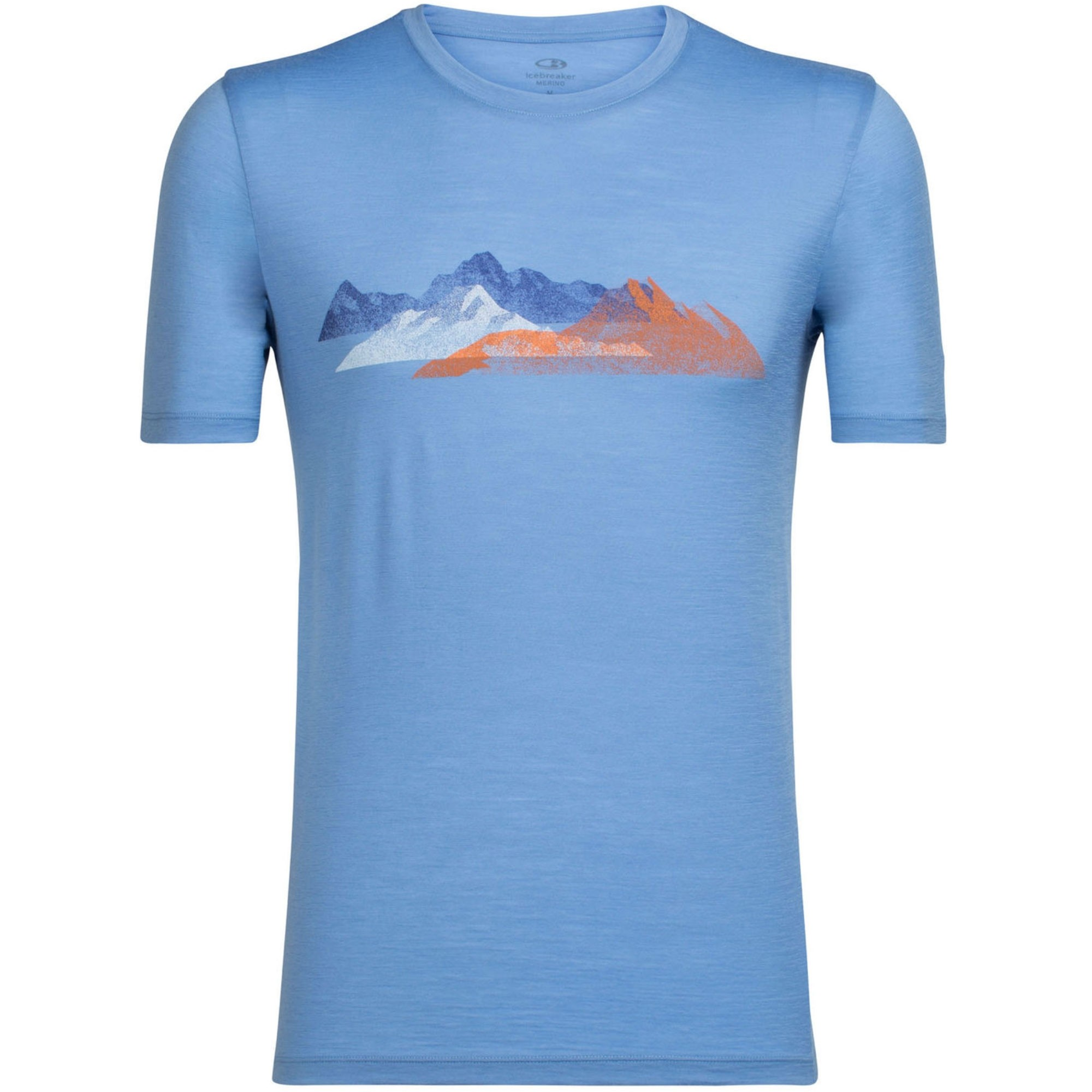 Icebreaker Tech Lite SS Crewe T-Shirt - Misty Peak - Chalk Blue
