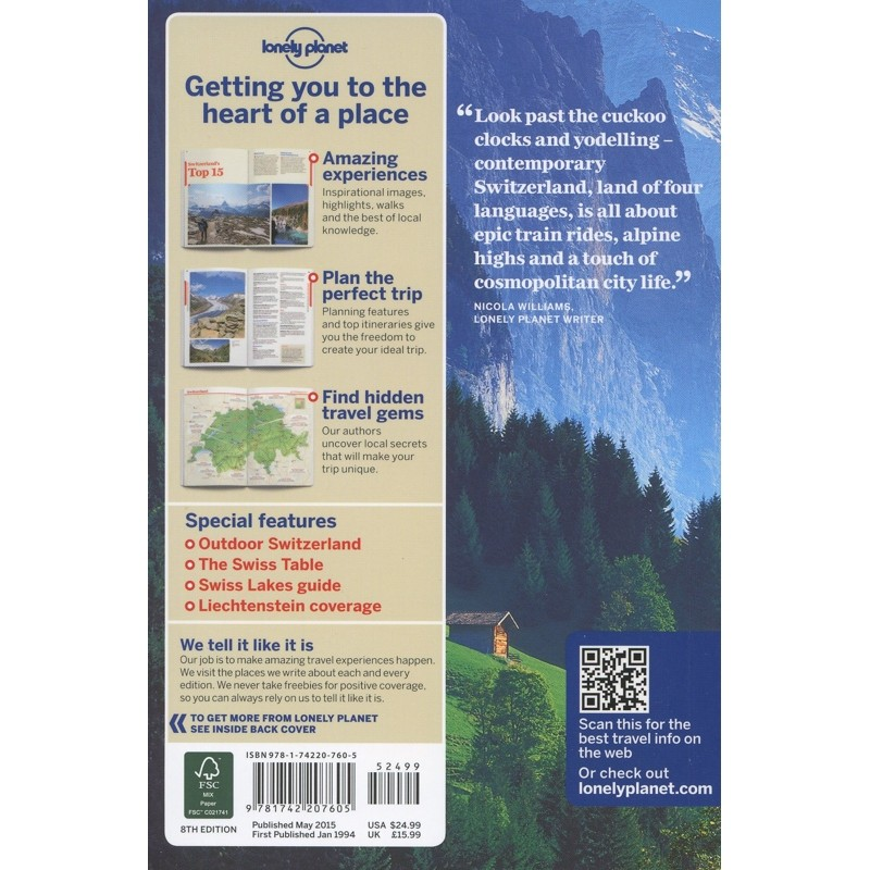 Switzerland Lonely Planet 8Th