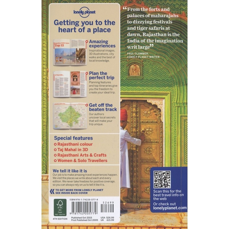 Rajasthan Delhi & Agra by Lonely Planet