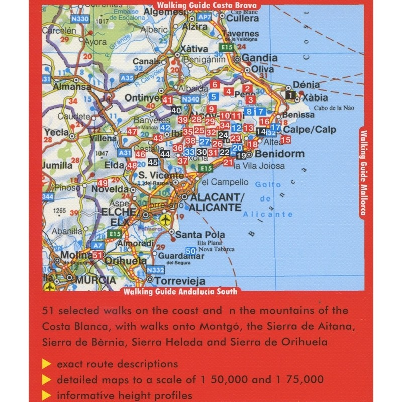 Costa Blanca: 51 walks: Rother  by Bergverlag Rother