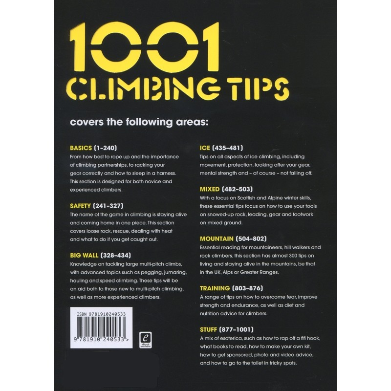 1001 Climbing Tips: SIGNED by Vertebrate Publishing
