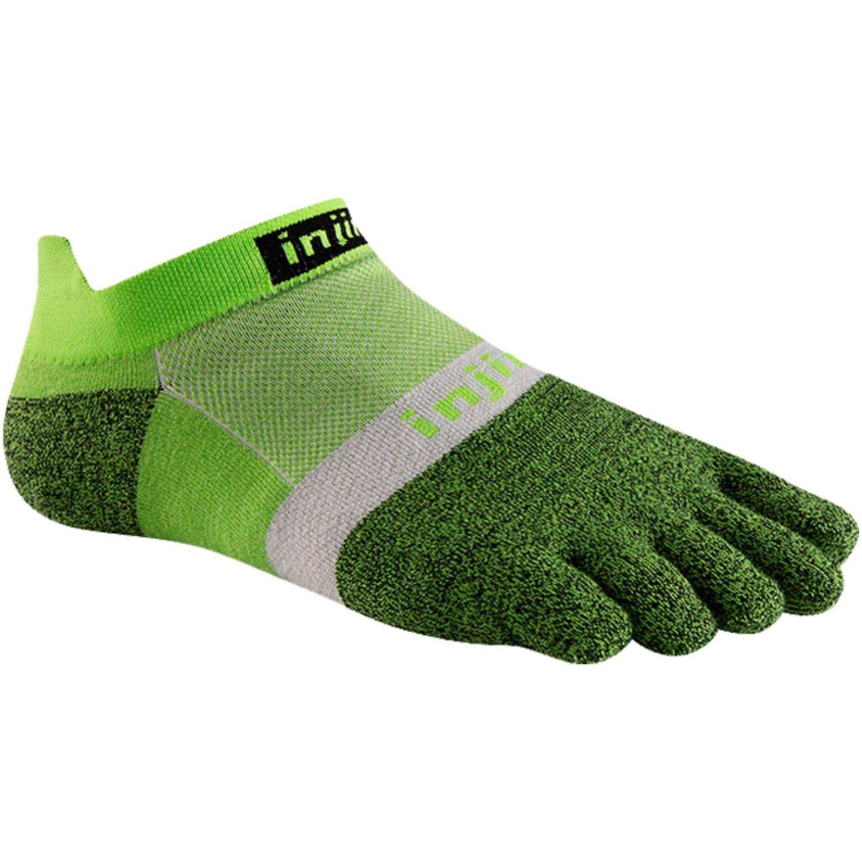INJINJI Run Light Weight No Show Toe Socks - Chive