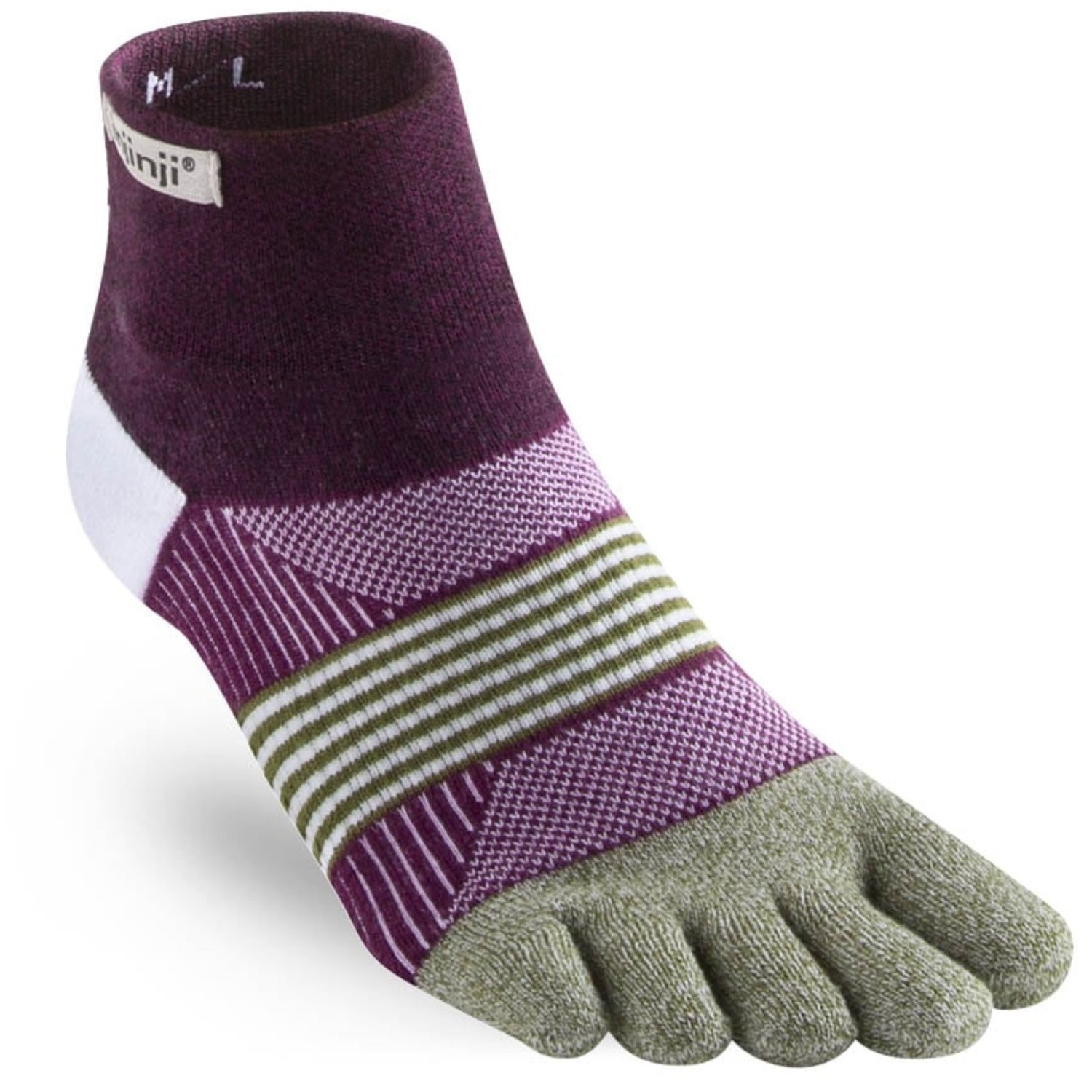 Injinji Trail Midweight Coolmax Mini Crew - Womens - Mulberry