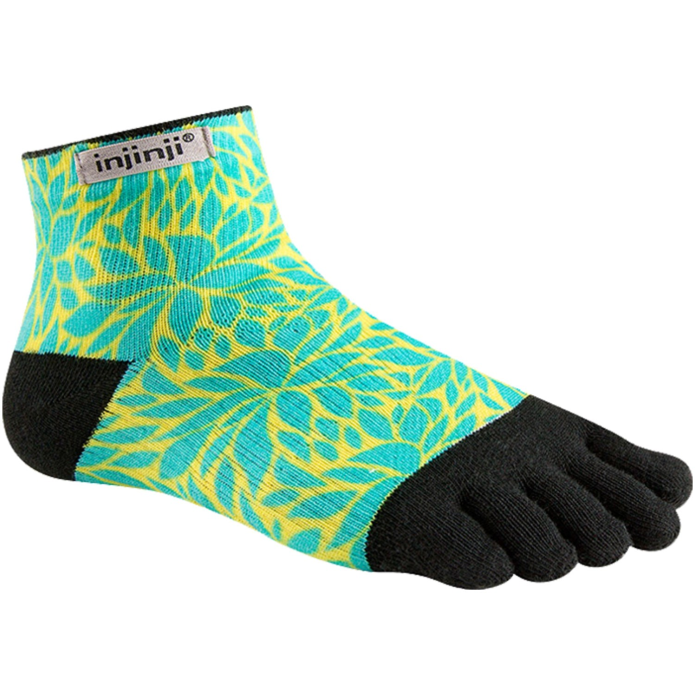 Injinji Run Lightweight Mini Crew Women's Toe Socks - Fern