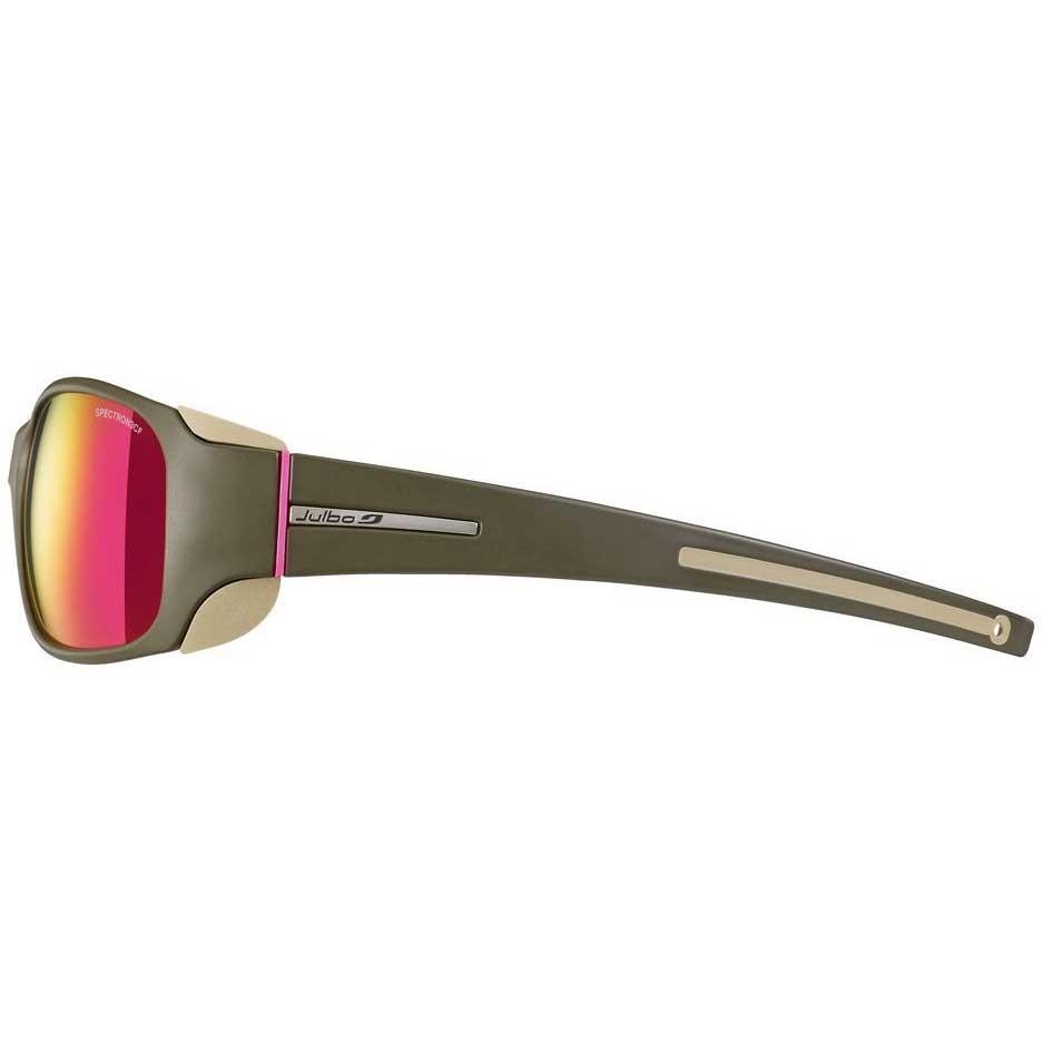 Julbo Monterosa Sunglasses - Spectron 3 CF - Army/Camel/Pink - Pink ML Lens