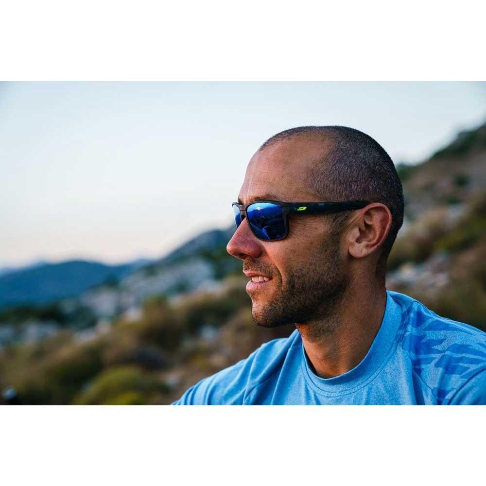 Julbo Renegade Sunglasses - Polarised 3 CF - Smoke ML Blue Lens - Black Tortoise / Black