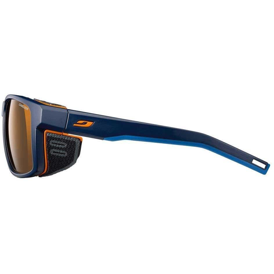 Julbo Shield - Blue / Blue / Orange - Reactiv Cameleon - Brown Lens