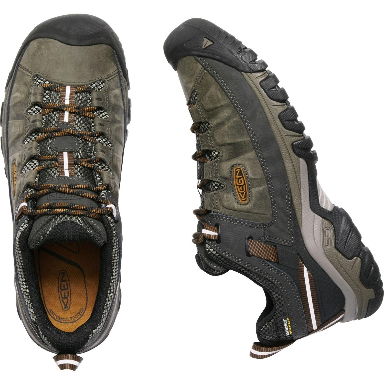 Keen Targhee III Waterproof Men's Hiking Shoes - Black Olive/Golden Brown